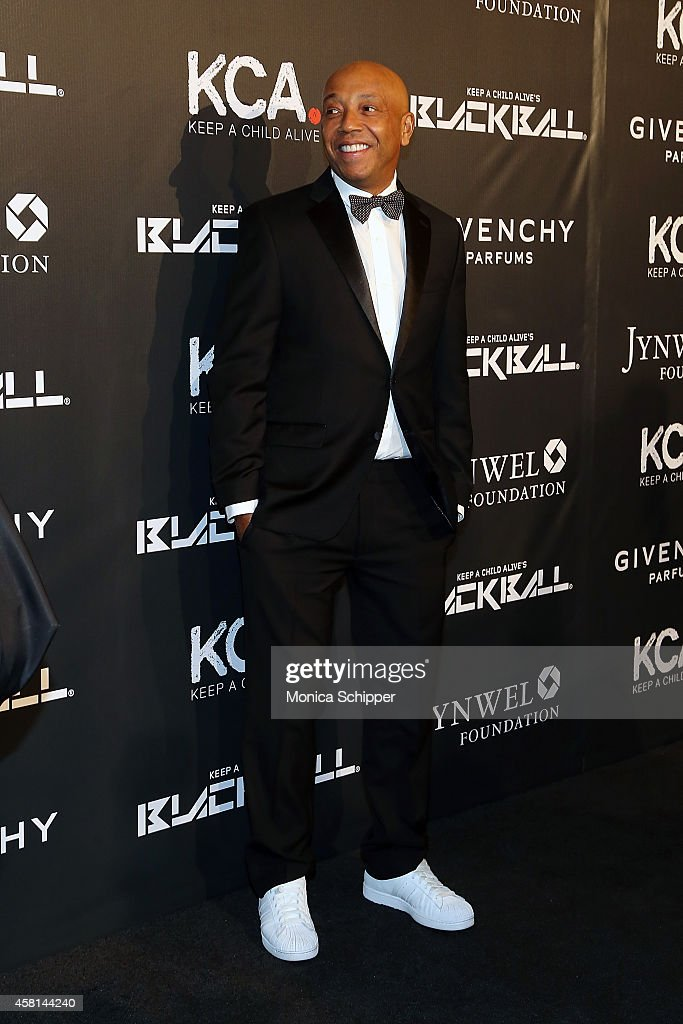 Russell Simmons attends the 9th annual Keep A Child Alive Black Ball at Hammerstein Ballroom on October 30, 2014 in New York City.
