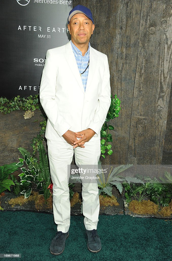 Russell Simmons attends the 'After Earth' premiere at Ziegfeld Theater on May 29, 2013 in New York City.
