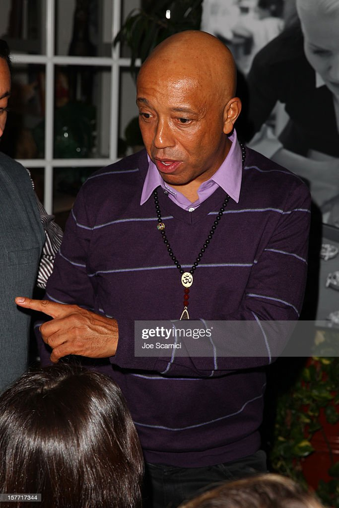 Russell Simmons attends the Haute Living and Roger Dubuis dinner hosted By Daphne Guinness at Azur on December 5, 2012 in Miami Beach, Florida.