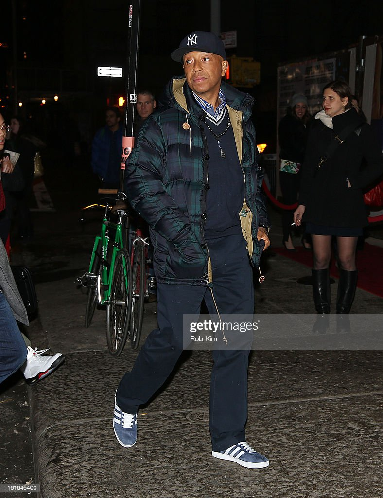 Russell Simmons attends the Miley Cyrus March 'Cosmo' Cover Issue Celebration at Acme on February 13, 2013 in New York City.