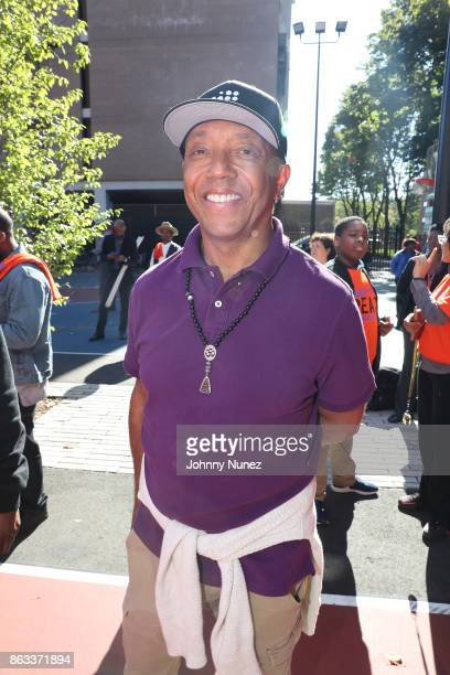 Russell Simmons Attends The RushCard's Keep the Peace Initiative Day Of Peace on October 19 2017 in the Queens borough of New York City