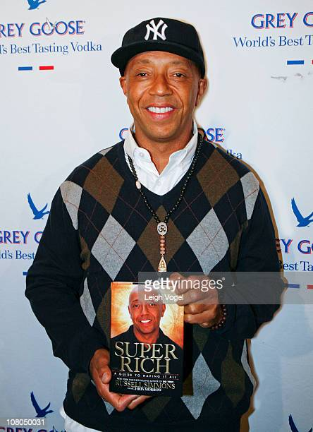 Russell Simmons attends the 'Super Rich A Guide To Having It All' book release party at the Grey Goose Mansion on January 14 2011 in Washington DC