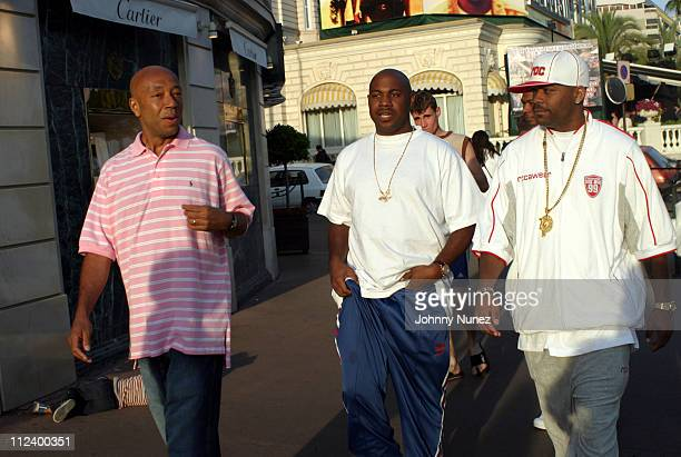 Russell Simmons Biggs and Damon Dash during 2003 Cannes Film Festival Damon Dash and Russell Simmons at Cannes Film Festival in Cannes France