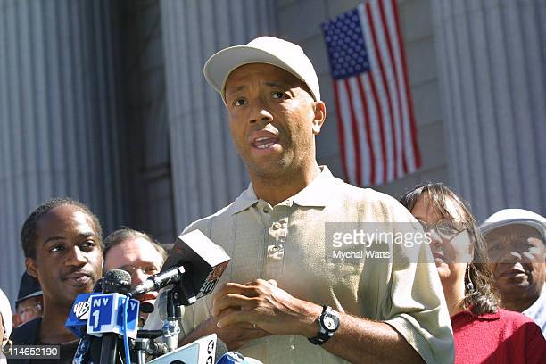 Russell Simmons during Alliance for Quality Education Demands Pataki Settle School Lawsuit at State Supreme Court in New York City New York United...