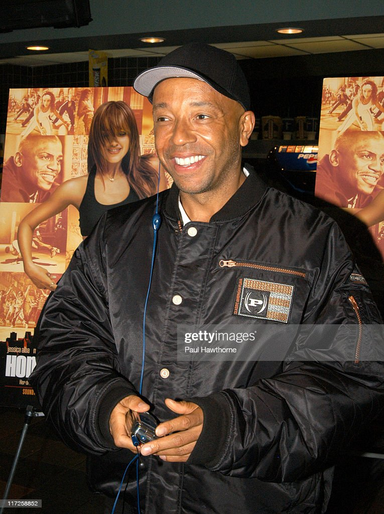 Russell Simmons during Honey - New York Premiere - Inside Arrivals at Chelsea West Theater in New York City, New York, United States.