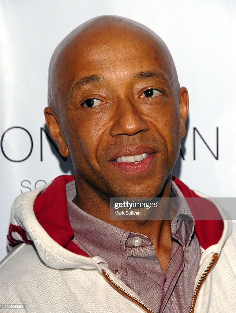 Russell Simmons during Los Angeles Confidential Magazine in Association with Morgans Hotel Group Celebrates the 2007 Oscars with Forest Whitaker, Rob Clark and Hendrix Electric Vodka - Arrivals at Skybar at Mondrian Hotel in Los Angeles, California, United States.