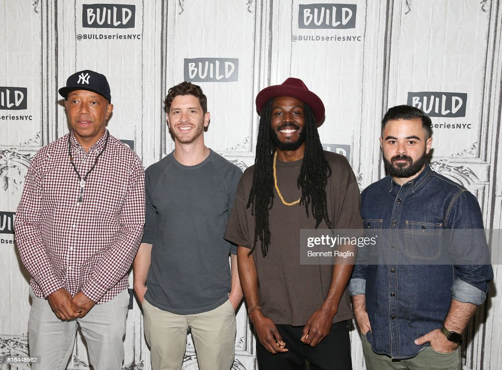 Russell Simmons, Jason Zeldes, Donte Clark, and Michael Klein attend Build to discuss the documentary 'Romeo Is Bleeding' at Build Studio on July 17, 2017 in New York City.
