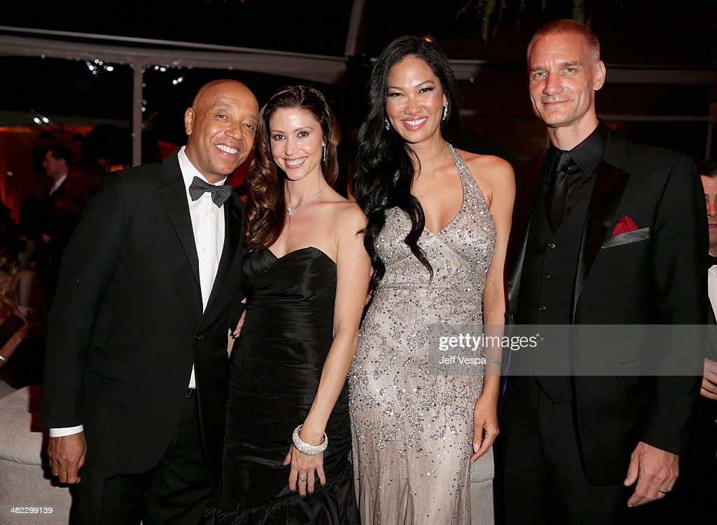Russell Simmons, <a gi-track='captionPersonalityLinkClicked' href=/galleries/search?phrase=Shannon+Elizabeth&family=editorial&specificpeople=201622 ng-click='$event.stopPropagation()'>Shannon Elizabeth</a>, <a gi-track='captionPersonalityLinkClicked' href=/galleries/search?phrase=Kimora+Lee+Simmons&family=editorial&specificpeople=203004 ng-click='$event.stopPropagation()'>Kimora Lee Simmons</a>, and Tim Leissner attend The Weinstein Company & Netflix's 2014 Golden Globes After Party presented by Bombardier, FIJI Water, Lexus, Laura Mercier, Marie Claire and Yucaipa Films at The Beverly Hilton Hotel on January 12, 2014 in Beverly Hills, California.