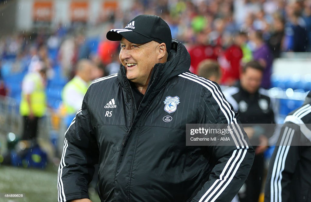 Russell Slade manager of Cardiff City during the Sky Bet Championship match between Cardiff City and Wolverhampton Wanderers at Cardiff City Stadium on August 22, 2015 in Cardiff, Wales.