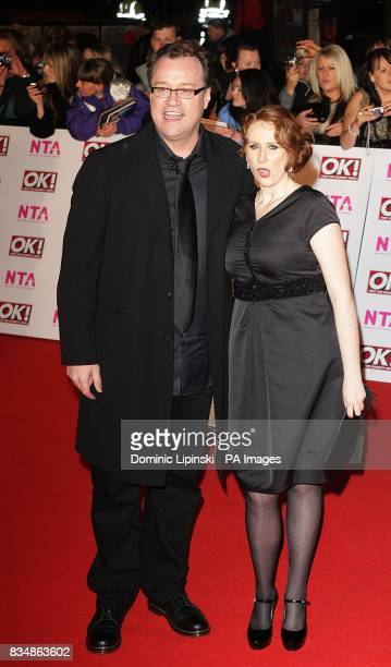 Russell T Davies and Catherine Tate at the 2008 National Television Awards at the Royal Albert Hall Kensington Gore SW7