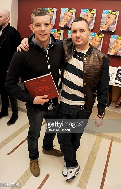 Russell Tovey and Kim Jones attend a private cocktail hosted by Louis Vuitton and GQ Style to celebrate Louis Vuitton Men's Style Director Kim Jones'...