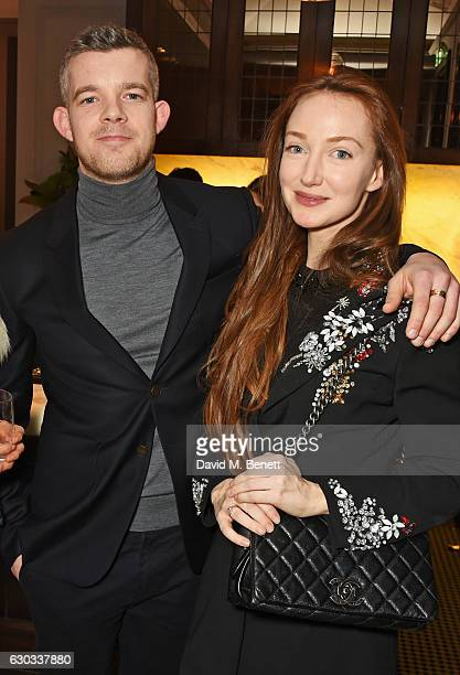 Russell Tovey and Olivia Grant attend the live reading event hosted by Burberry with Pin Drop at Thomas's Burberry's allday British Cafe located on 5...