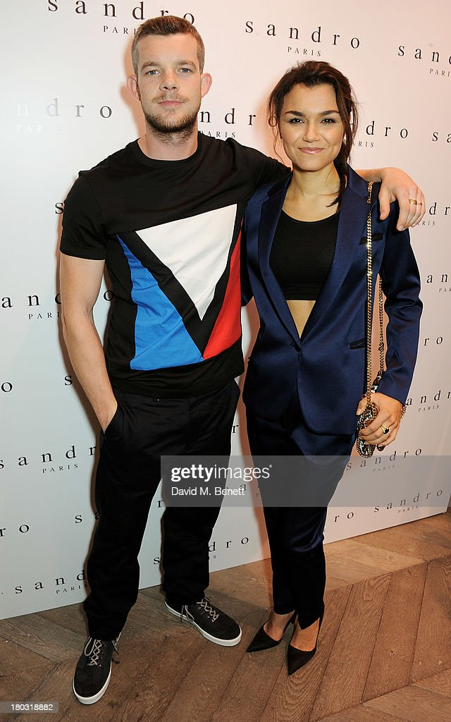 <a gi-track='captionPersonalityLinkClicked' href=/galleries/search?phrase=Russell+Tovey&family=editorial&specificpeople=741440 ng-click='$event.stopPropagation()'>Russell Tovey</a> (L) and <a gi-track='captionPersonalityLinkClicked' href=/galleries/search?phrase=Samantha+Barks&family=editorial&specificpeople=7061893 ng-click='$event.stopPropagation()'>Samantha Barks</a> attend the Sandro London flagship store launch in Covent Garden on September 11, 2013 in London, England.