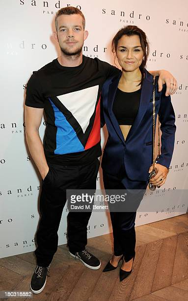 Russell Tovey and Samantha Barks attend the Sandro London flagship store launch in Covent Garden on September 11 2013 in London England