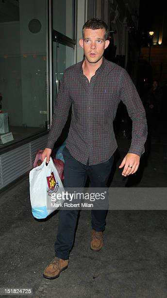 Russell Tovey at Mahiki nightclub for James Corden's stag party on September 11 2012 in London England