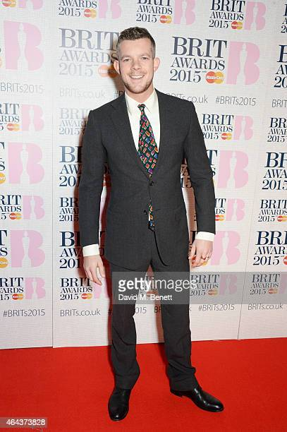 Russell Tovey attends the BRIT Awards 2015 at The O2 Arena on February 25 2015 in London England
