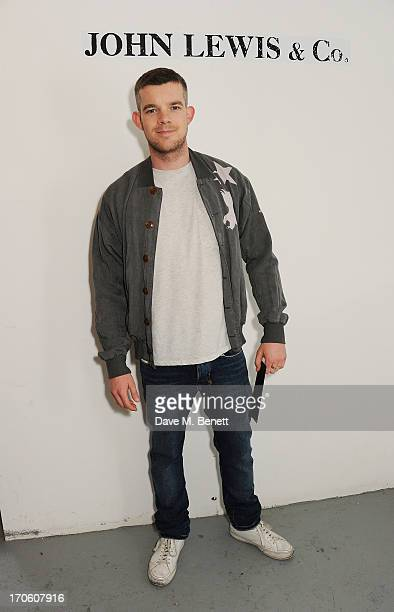 Russell Tovey attends the John Lewis debut presentation at London Collections Men where the British retailer showcased its John Lewis Co...