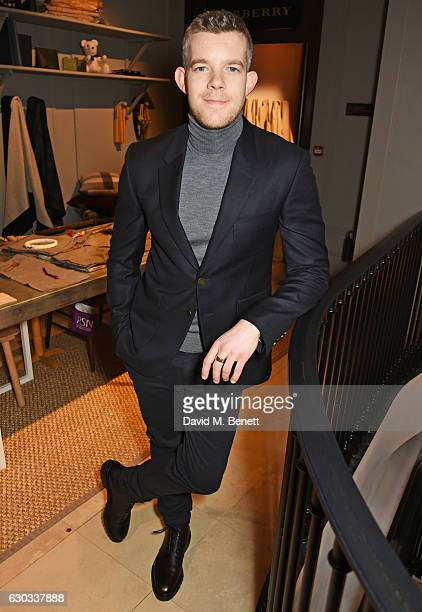 Russell Tovey attends the live reading event hosted by Burberry with Pin Drop at Thomas's Burberry's allday British Cafe located on 5 Vigo Street on...
