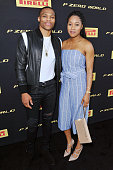 Russell Westbrook and Nina Earl attend the Global Launch of Pirelli P Zero World on July 14 2016 in Los Angeles California