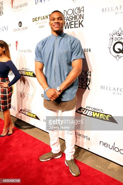 Russell Westbrook attends the JBurgos presentation during Nolcha Fashion Week Spring 2015 at Eyebeam on September 9 2014 in New York City