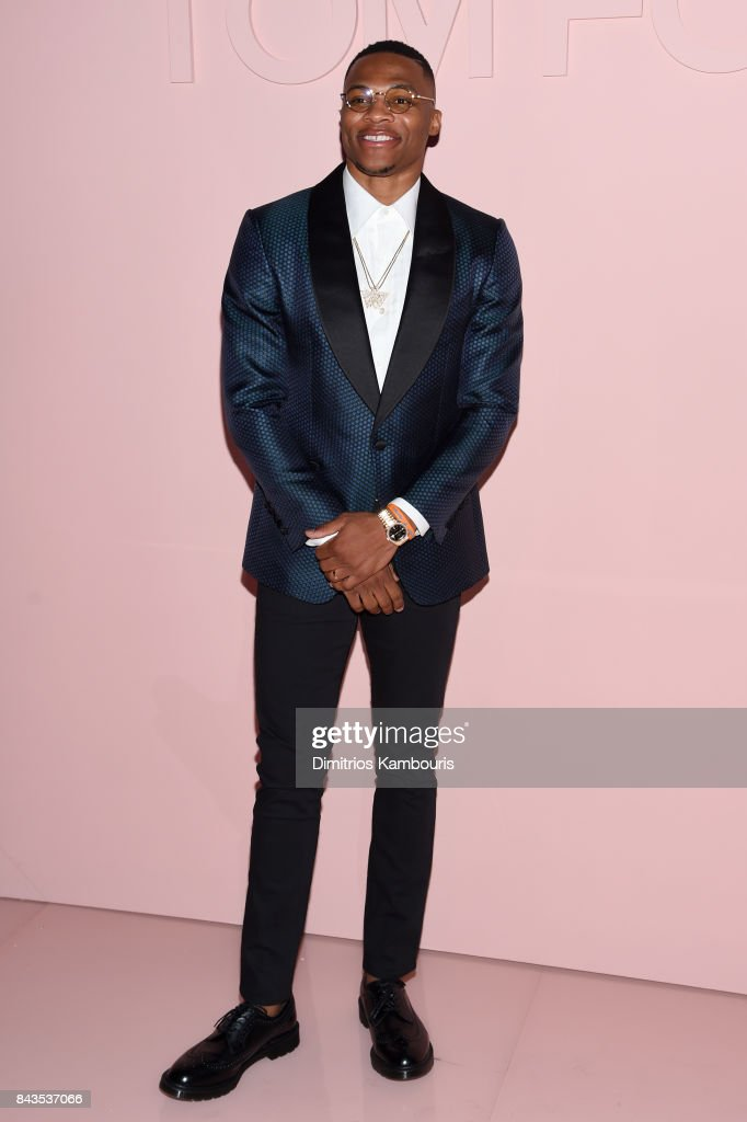 Russell Westbrook attends the Tom Ford Spring/Summer 2018 Runway Show at Park Avenue Armory on September 6, 2017 in New York City.