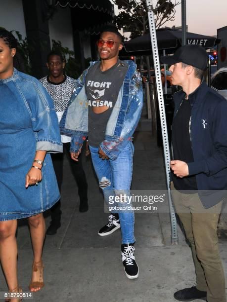 Russell Westbrook is seen on July 18 2017 in Los Angeles California