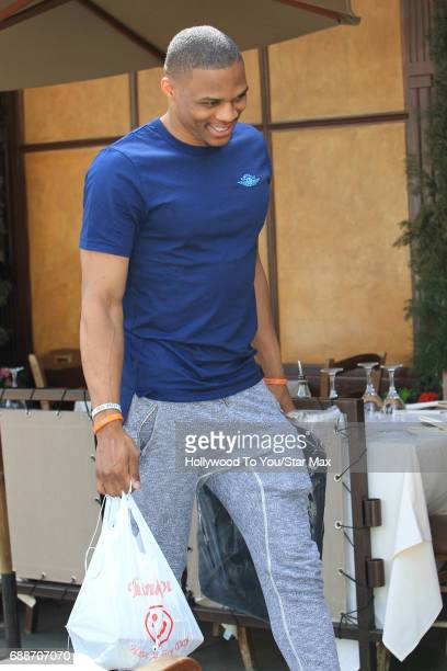 Russell Westbrook is seen on May 25 2017 in Los Angeles CA