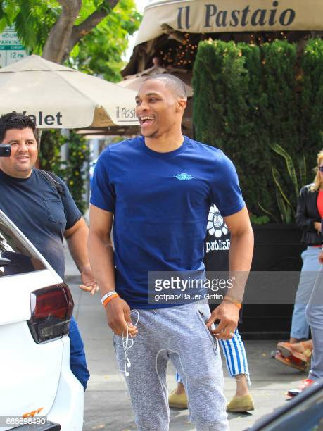 Russell Westbrook is seen on May 25 2017 in Los Angeles California