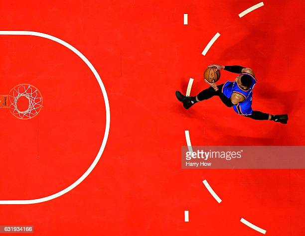 Russell Westbrook of the Oklahoma City Thunder breaks away to the basket for a dunk after a steal against the LA Clippers at Staples Center on...