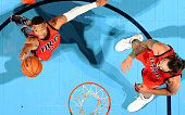 Russell Westbrook of the Oklahoma City Thunder grabs the rebound against the Sacramento Kings on December 6 2015 at the Chesapeake Energy Arena in...