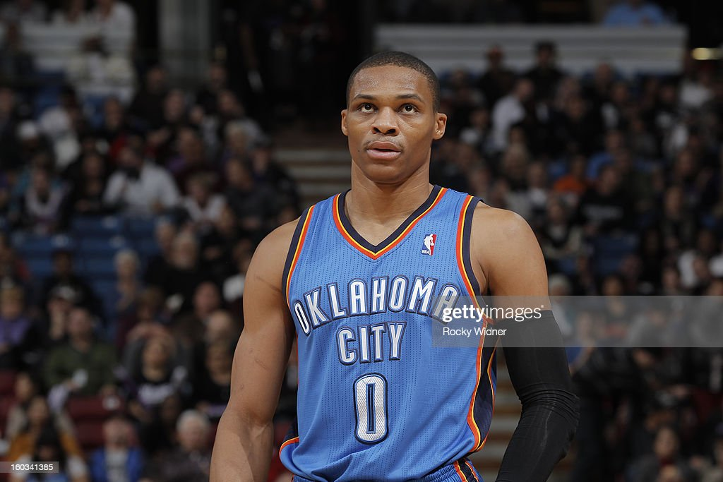 <a gi-track='captionPersonalityLinkClicked' href=/galleries/search?phrase=Russell+Westbrook&family=editorial&specificpeople=4044231 ng-click='$event.stopPropagation()'>Russell Westbrook</a> #0 of the Oklahoma City Thunder in a game against the Sacramento Kings on January 25, 2013 at Sleep Train Arena in Sacramento, California.