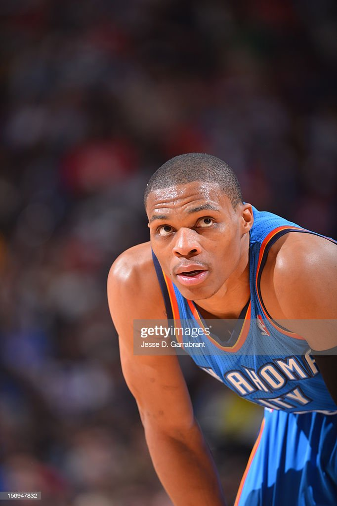 <a gi-track='captionPersonalityLinkClicked' href=/galleries/search?phrase=Russell+Westbrook&family=editorial&specificpeople=4044231 ng-click='$event.stopPropagation()'>Russell Westbrook</a> #0 of the Oklahoma City Thunder looks on during the game against the Philadelphia 76ers at the Wells Fargo Center on November 24, 2012 in Philadelphia, Pennsylvania.