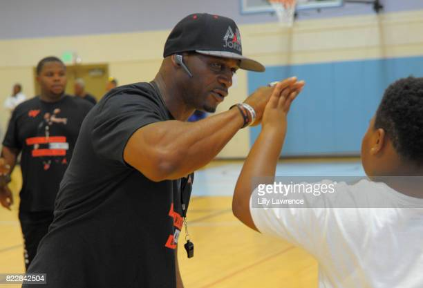 Russell Westbrook Sr attends the Russell Westbrook 5th Annual Why Not Foundation Basketball Camp at Jesse Owens Community Regional Park on July 25...