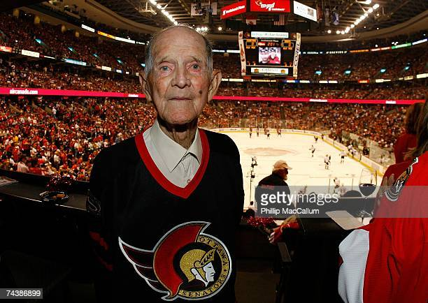 Russell Williams an Ottawa Senators fan attends Game Three of the 2007 Stanley Cup finals between the Anaheim Ducks and the Ottawa Senators at...