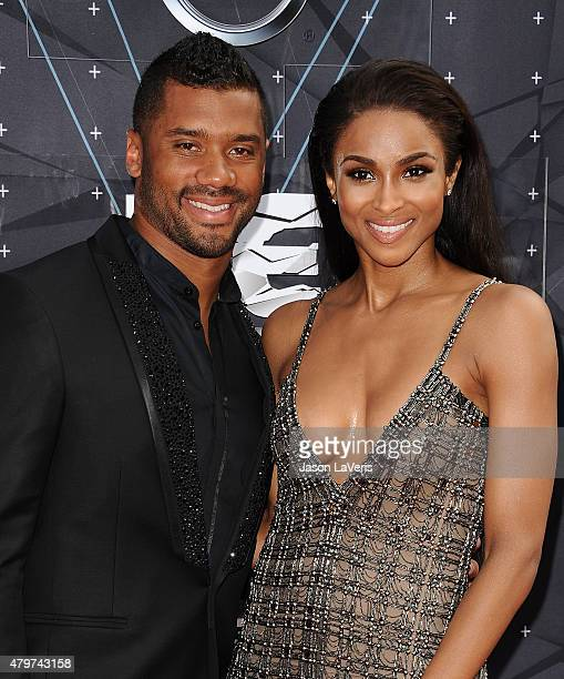 Russell Wilson and Ciara attend the 2015 BET Awards at the Microsoft Theater on June 28 2015 in Los Angeles California