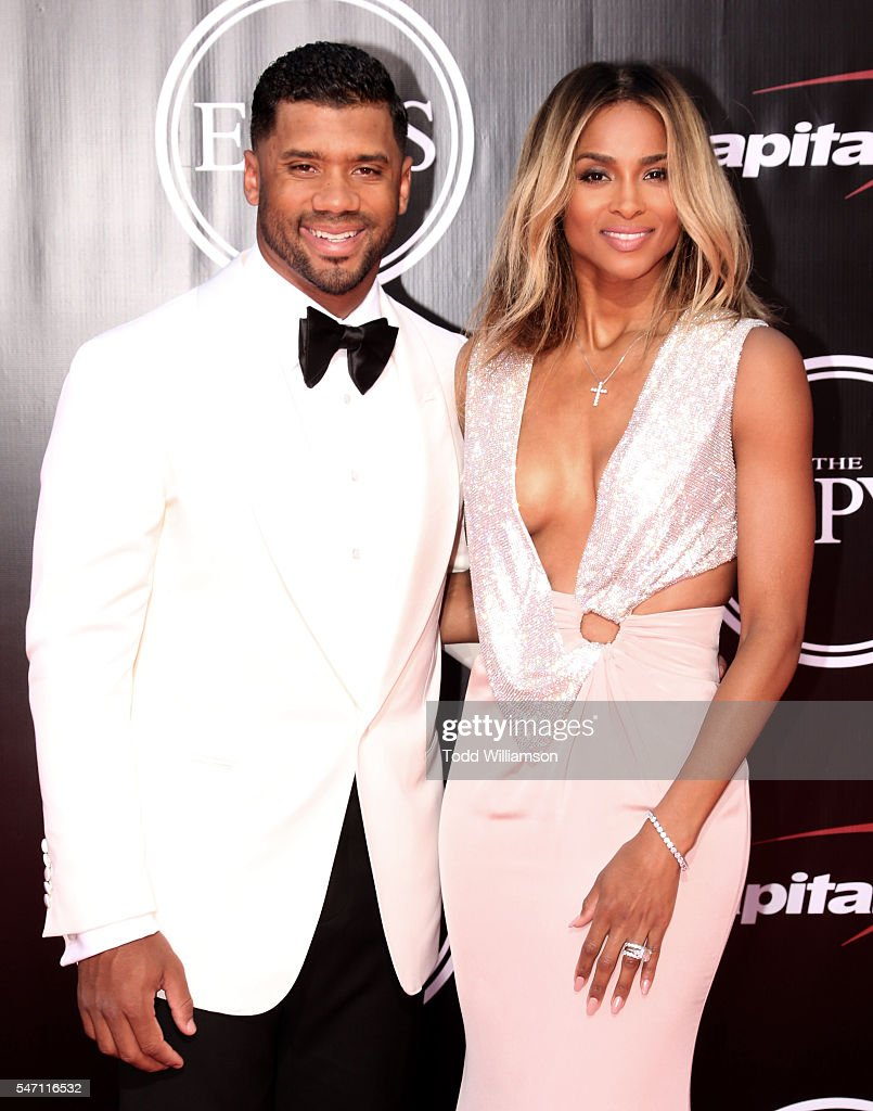 Russell Wilson and Ciara attend The 2016 ESPYS at Microsoft Theater on July 13, 2016 in Los Angeles, California.