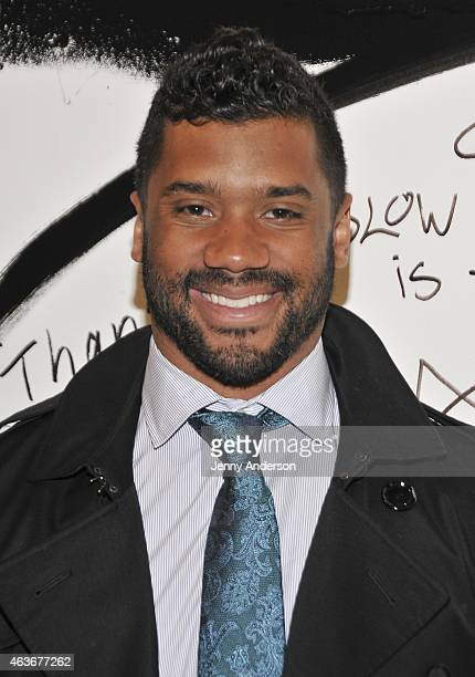 Russell Wilson visits AOL Studios in New York on February 17 2015 in New York City
