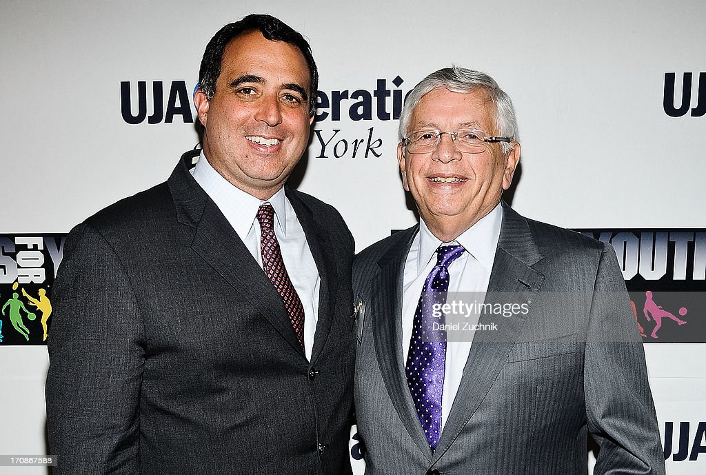 Russell Wolff and <a gi-track='captionPersonalityLinkClicked' href=/galleries/search?phrase=David+Stern&family=editorial&specificpeople=206848 ng-click='$event.stopPropagation()'>David Stern</a> attend UJA-Federation Of New York's Sports for Youth Luncheon at The Roosevelt Hotel on June 19, 2013 in New York City.
