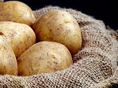 Basket of Russet Potatoes