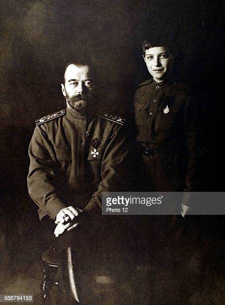 Russia 1916 Czar Nicholas II and the crown Grand Duke