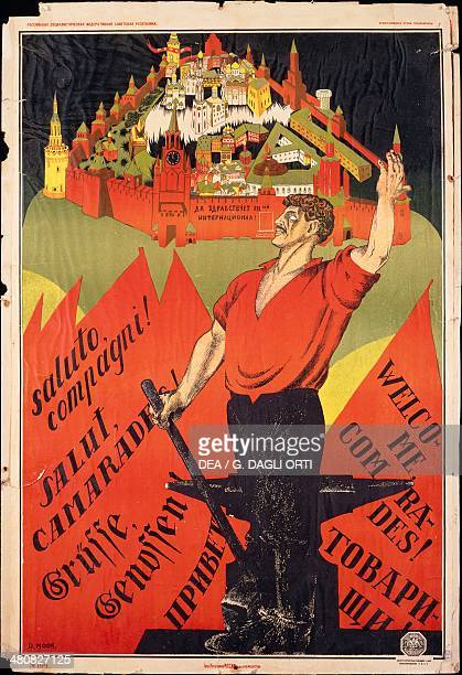 Russia 20th century October Revolution Welcome comrades Appeal to the revolutionary workers abroad 1917 Paris Musée De L'Armée