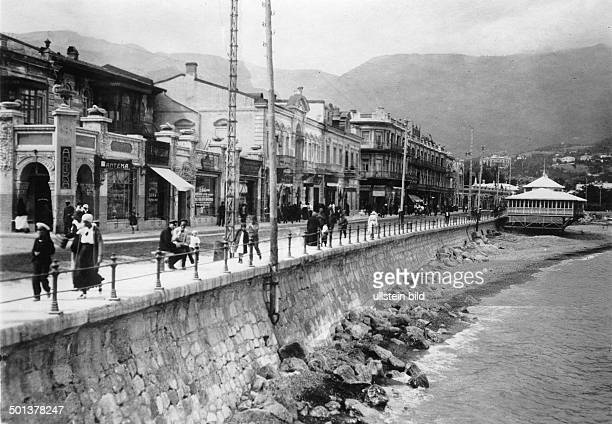 waterfront of Yalta probably in the 1910s