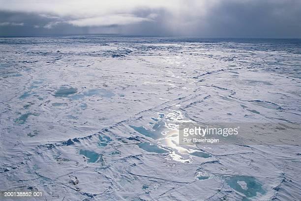 Russia, Franz Josef Land, path through ice