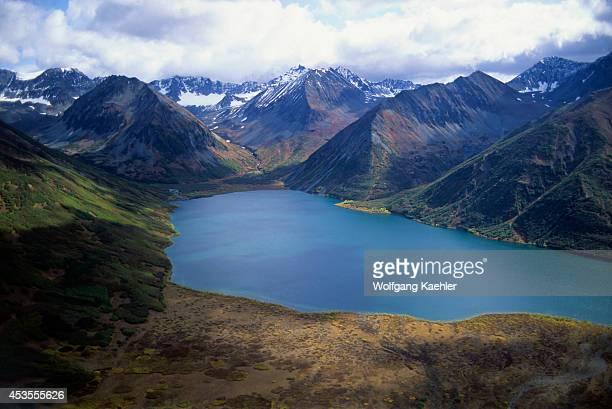 Russia Kamchatka Aerial View Of Avachinska Lake