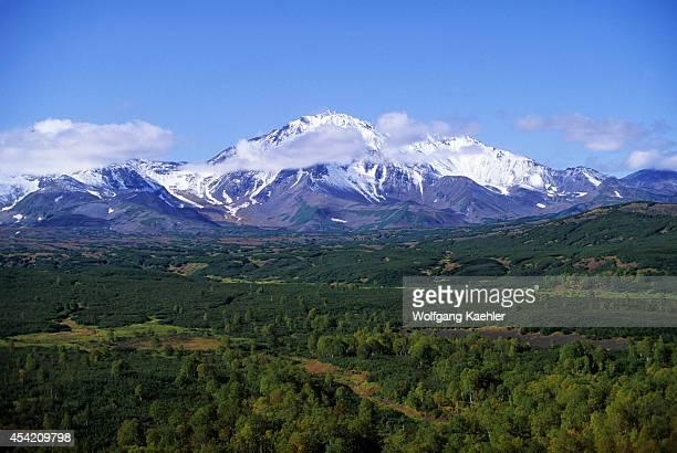 Russia Kamchatka Near Petropavlovsk View Of Arik Volcano