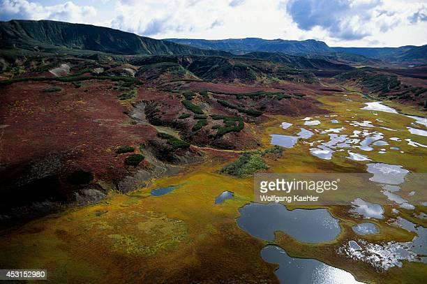 Russia Kamchatka View Of Uzon Caldera Volcanic Crater