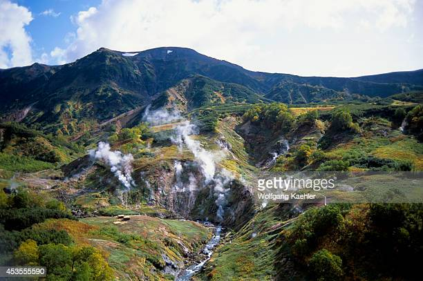 Russia Kamchatka View Of Valley Of The Geysers Fumaroles