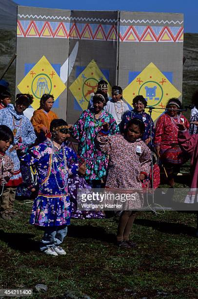 Russia Magadan Region Chukotskiy Novoye Chaplino Hunter's Festival Traditional Dances