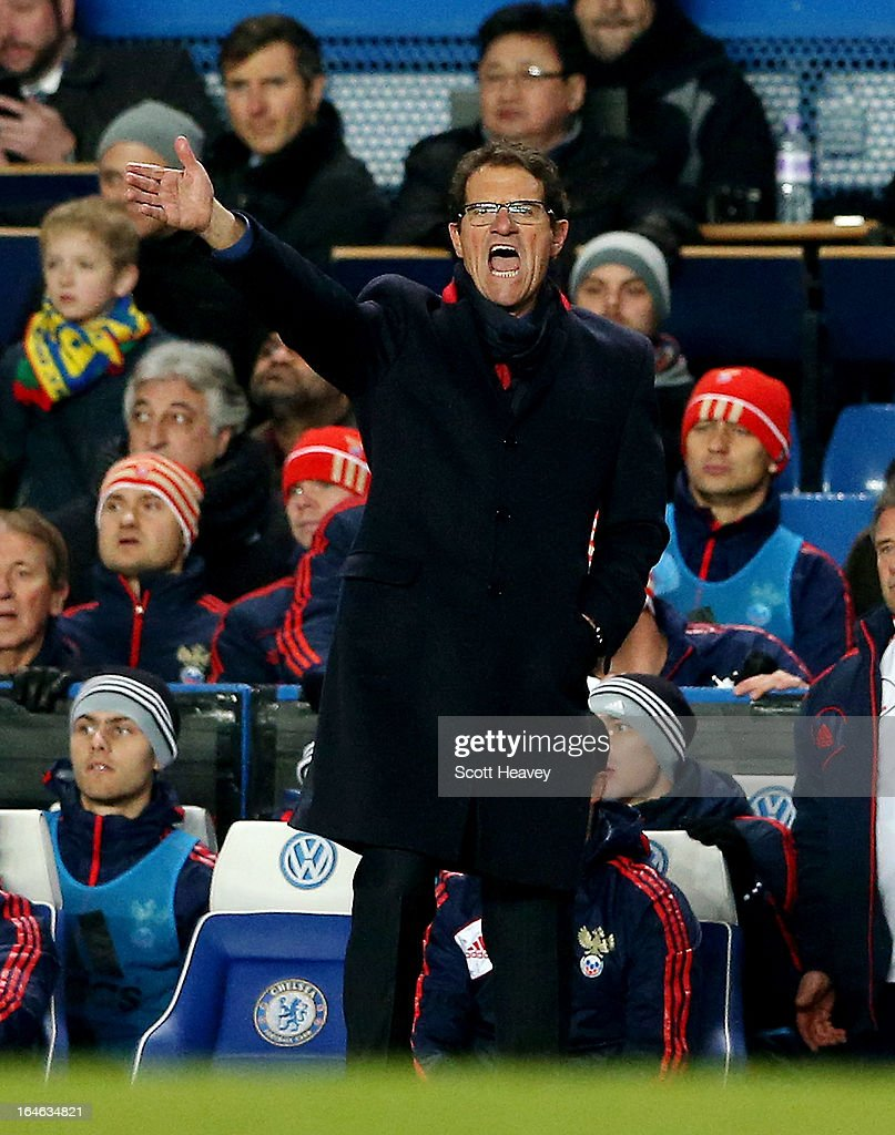 Russia manager Fabio Capello during an International Friendly between Brazil and Russia at Stamford Bridge on March 25, 2013 in London, England.
