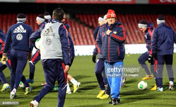 Russia manager Fabio Capello during the training session at Windsor Park Belfast Northern Ireland